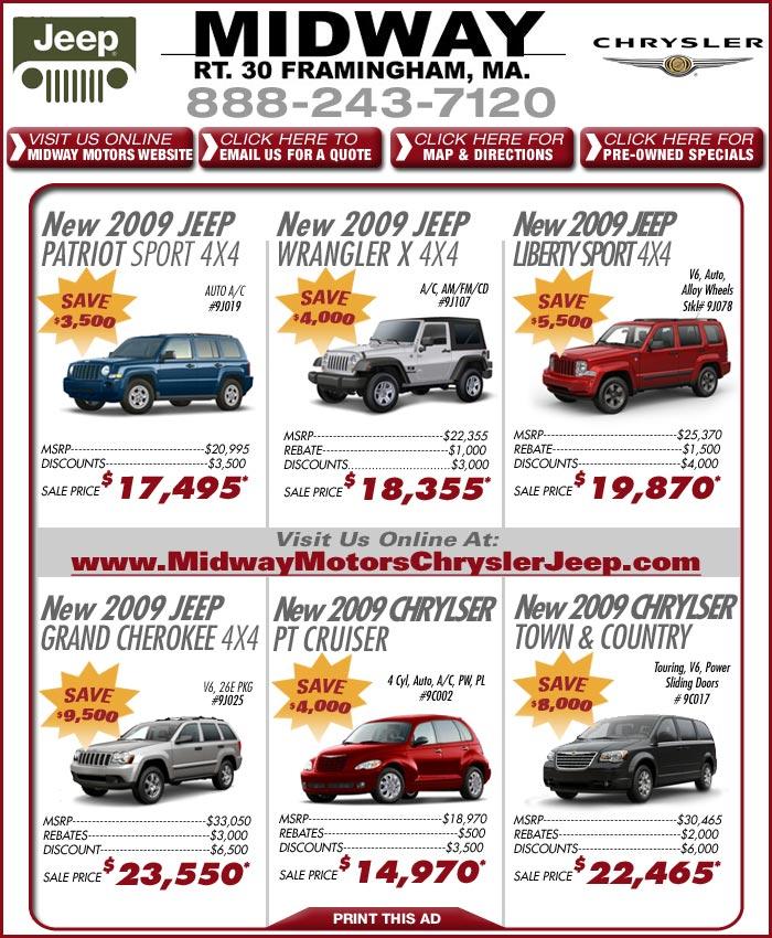 Midway Jeep Chrysler New Car Deals