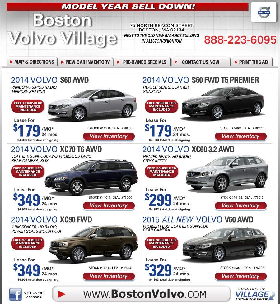 Boston Volvo Village Dealers Specials On Boston Com Shop