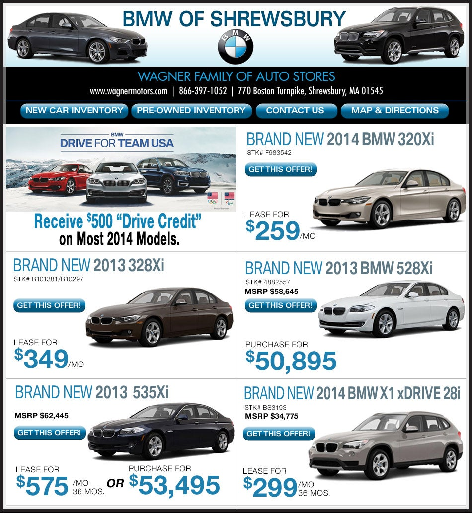 Boston.com: Buy/Lease Your New BMW From Wagner BMW Of