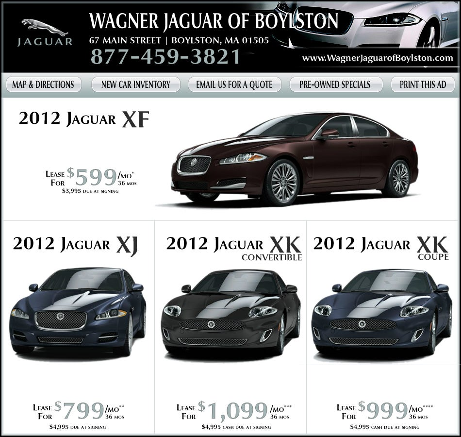 Jaguar Xj Lease: Boston.com: Buy/Lease Your New Jaguar From Wagner Jaguar