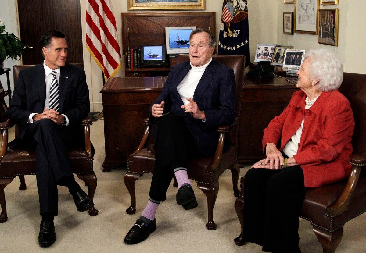 Mitt Romney and HW Bush