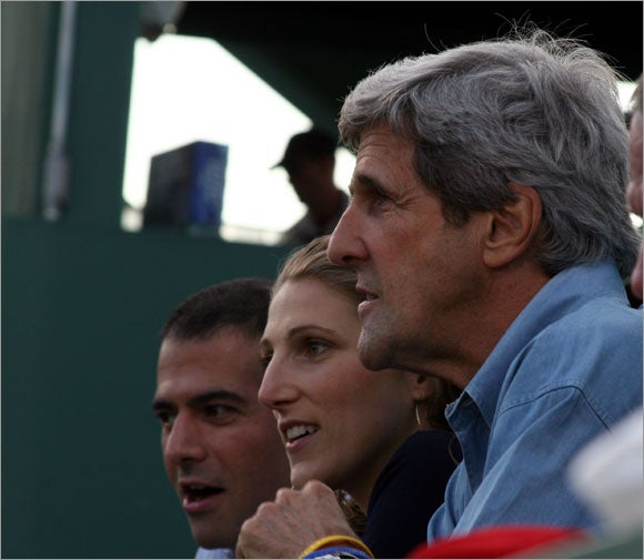 John Kerry and his daughter