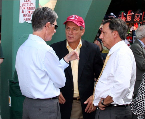 Red Sox owners discussion before game