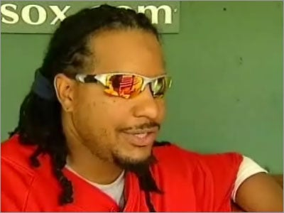 Manny Ramirez being interviewed on Ch. 7's Sports Xtra