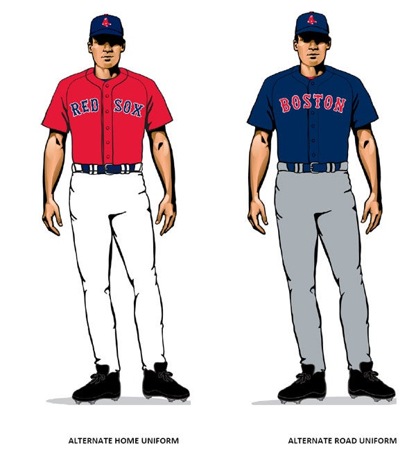 alternate home and road uniforms