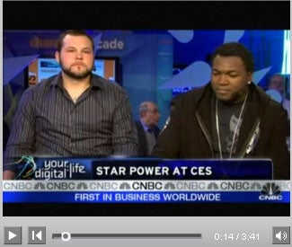 David Ortiz and Joba Chamberlain at CES today