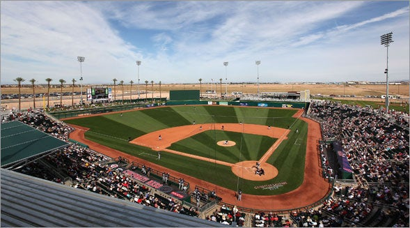 Eventually, the hope is that the new Goodyear Ballpark becomes a centerpiece of the city's downtown.