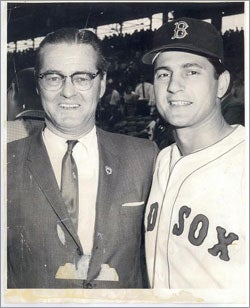 Charlie Briley with Carl Yastrzemski at Fenway Park in the early 1960s.