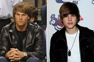Brady and Bieber... separated at barber?