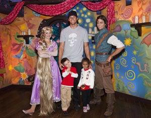 Tom Brady visits Disneyland with family