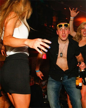 Marchand gets his groove on at Shrine on Saturday night