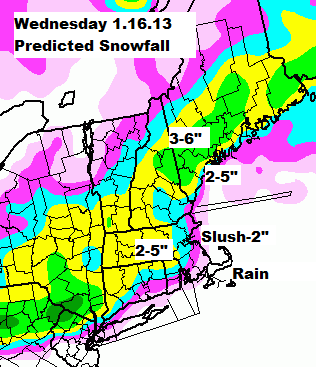 Predicted snowfall January 16th 2012.png