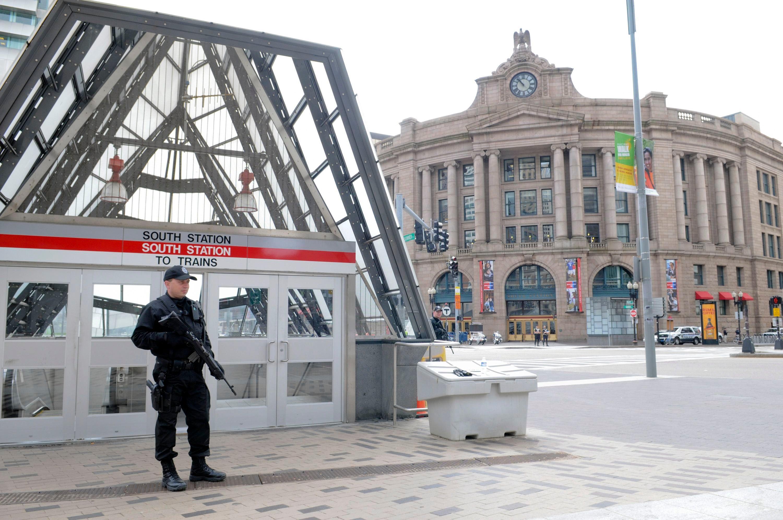 Eerie Photos of Boston on Lockdown During the Marathon Bombing