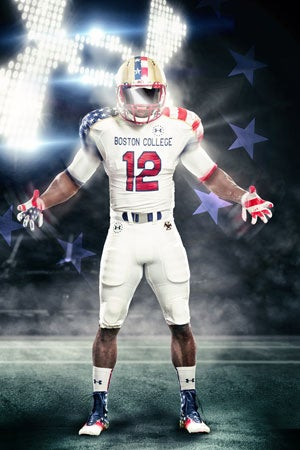 The Boston College football team will have a different look Oct. 27 vs. Maryland. (Photo courtesy of Under Armour)