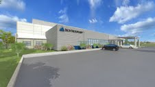 A rendering of Iron Mountain's planned data center. Rendering courtesy of the company.