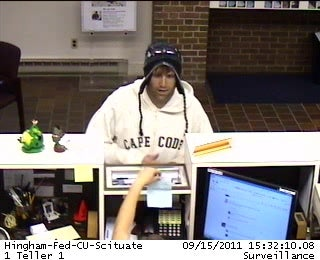 Hingham police released this surveillance photo of the suspect.