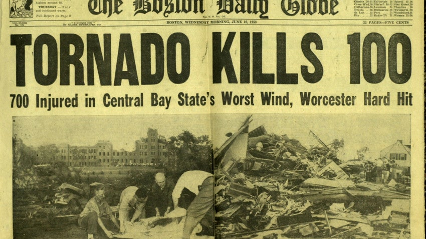 Tornadoes Of Massachusetts Past Boston Com