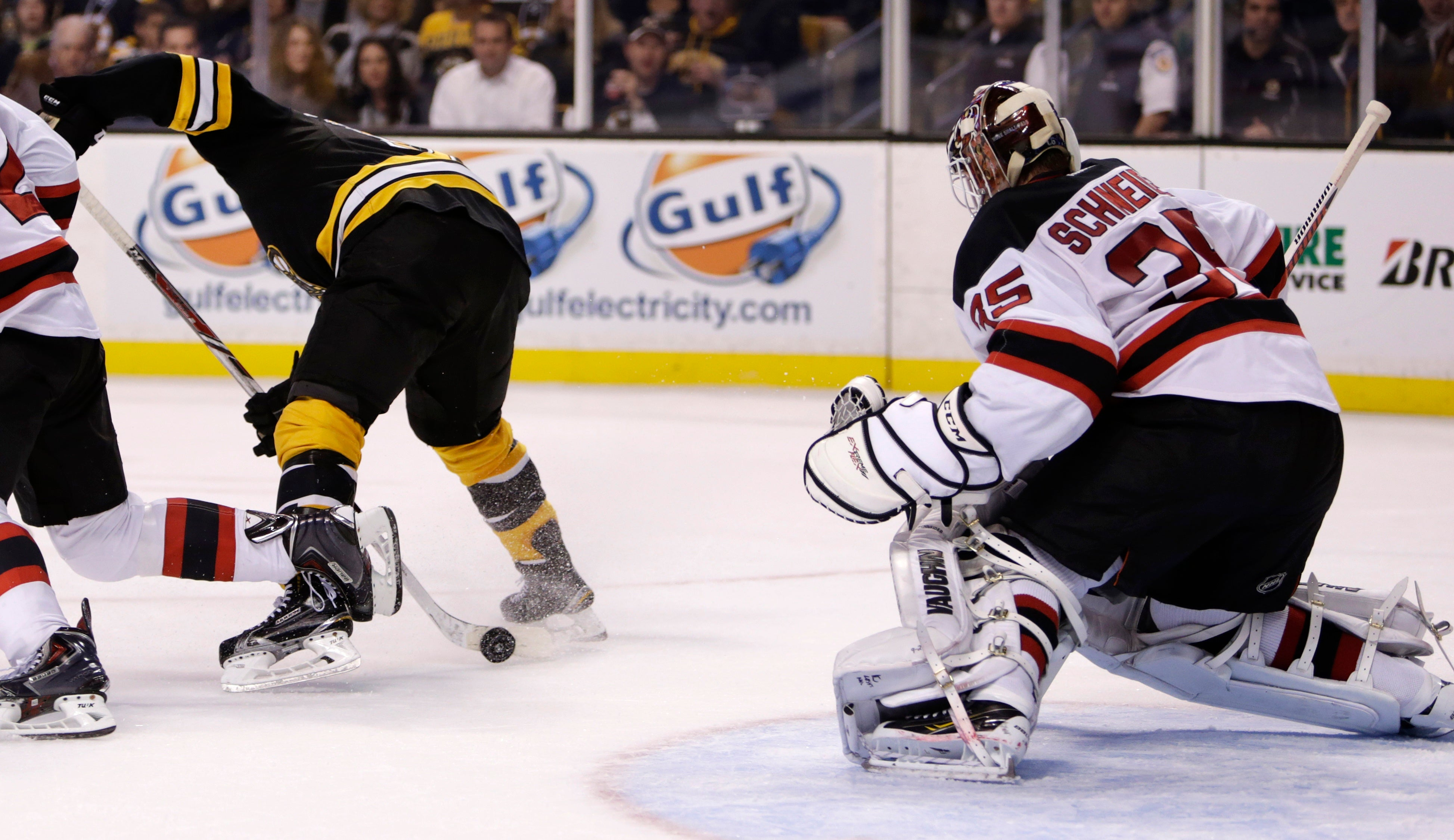 Seth Griffith Nets Undisputed Goal Of The Year Against Devils Boston Com