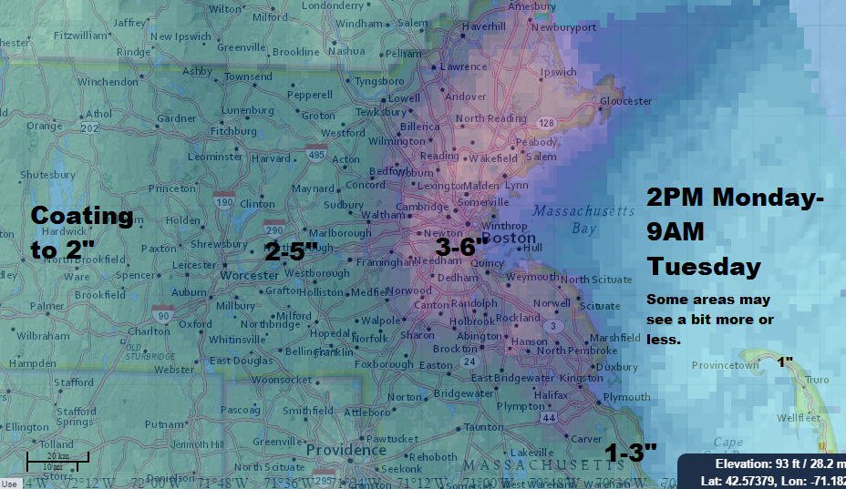 Snowstorm Updates February Th - Snowfall totals massachusetts