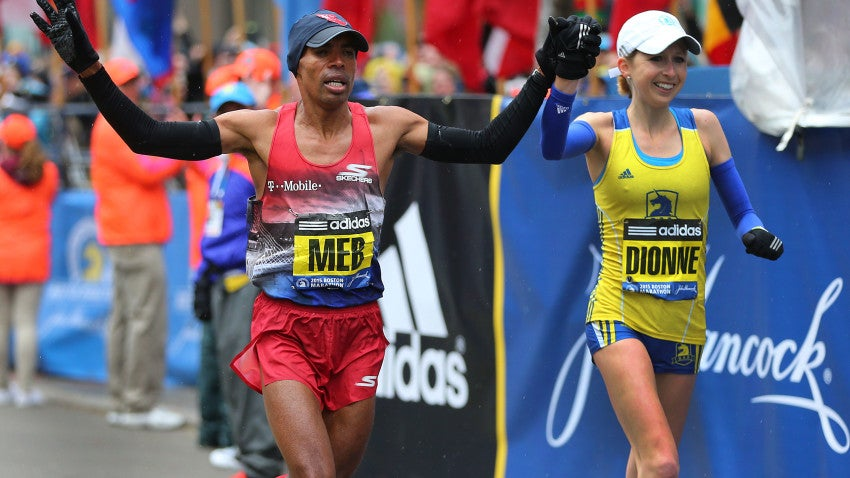 Meb Finishes First In Our Hearts With Adorable Hand Holding