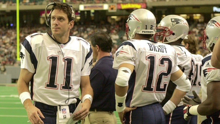 Image result for tom brady drew bledsoe 2001