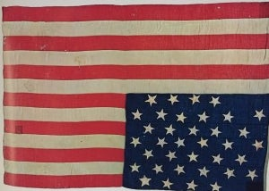 Flags with 36 stars first appeared on July 4, 1865 following the admission of Nevada into the union.