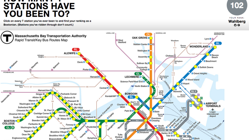 This Mbta Interactive Map Will Tell You How Boston You Really Are