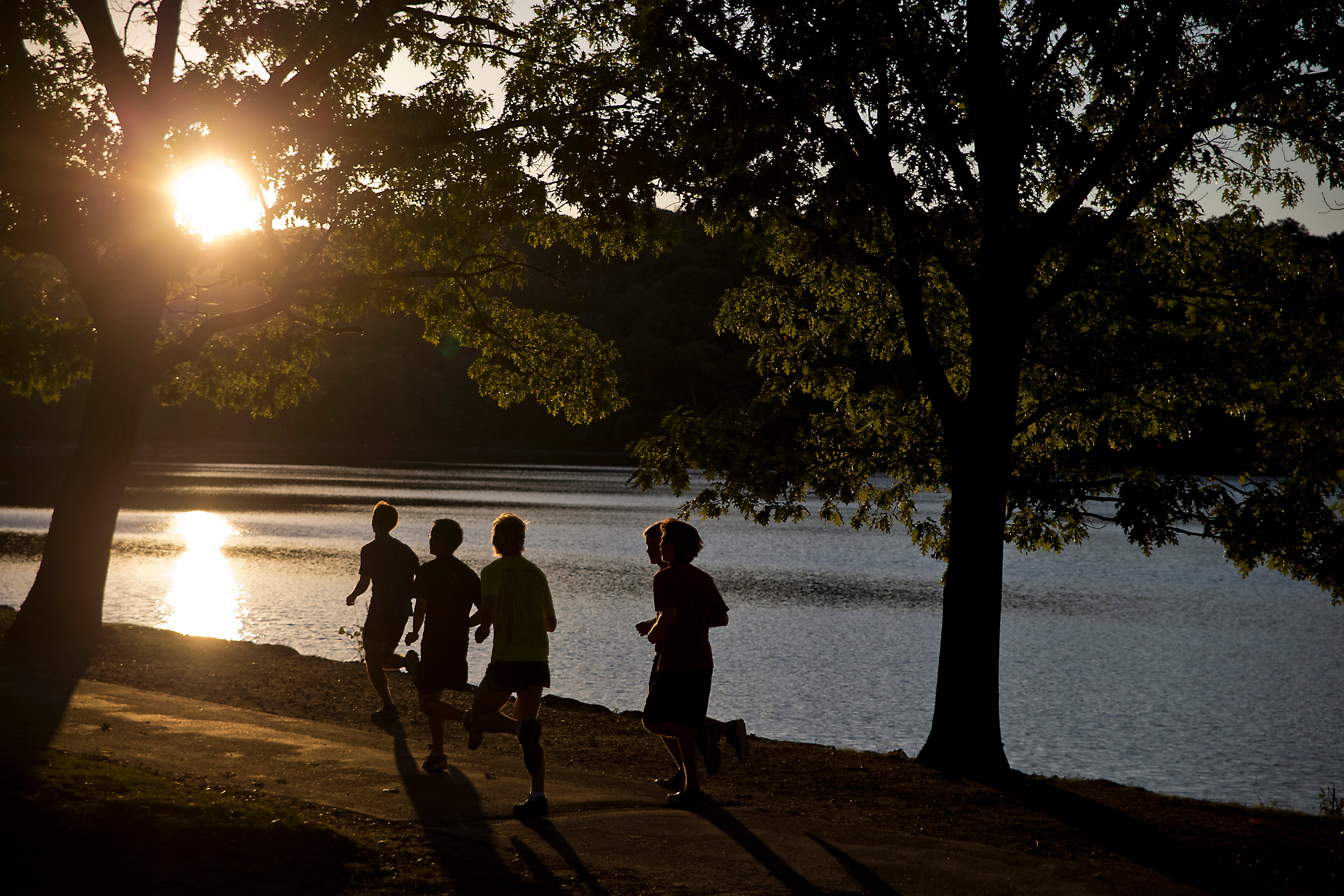 Runners at Jamaica Pond