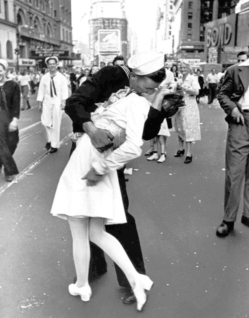 Image result for sailor kissing nurse
