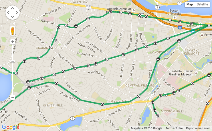 This geographically accurate MBTA map shows its many twists and ...