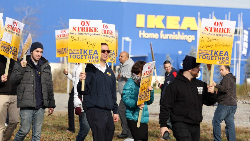Ikea Workers In Stoughton Strike For Right To Unionize Bostoncom
