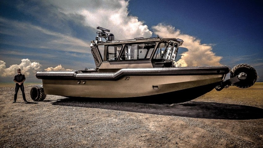 Here's a $1.5 million boat with retractable wheels