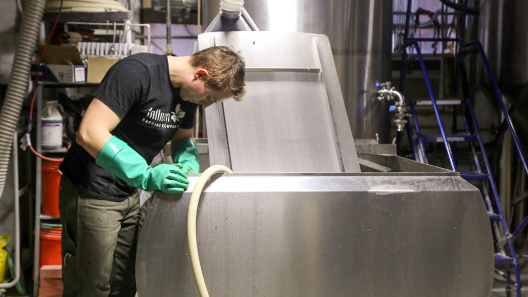 Page said brewing is more physically demanding than most people realize.