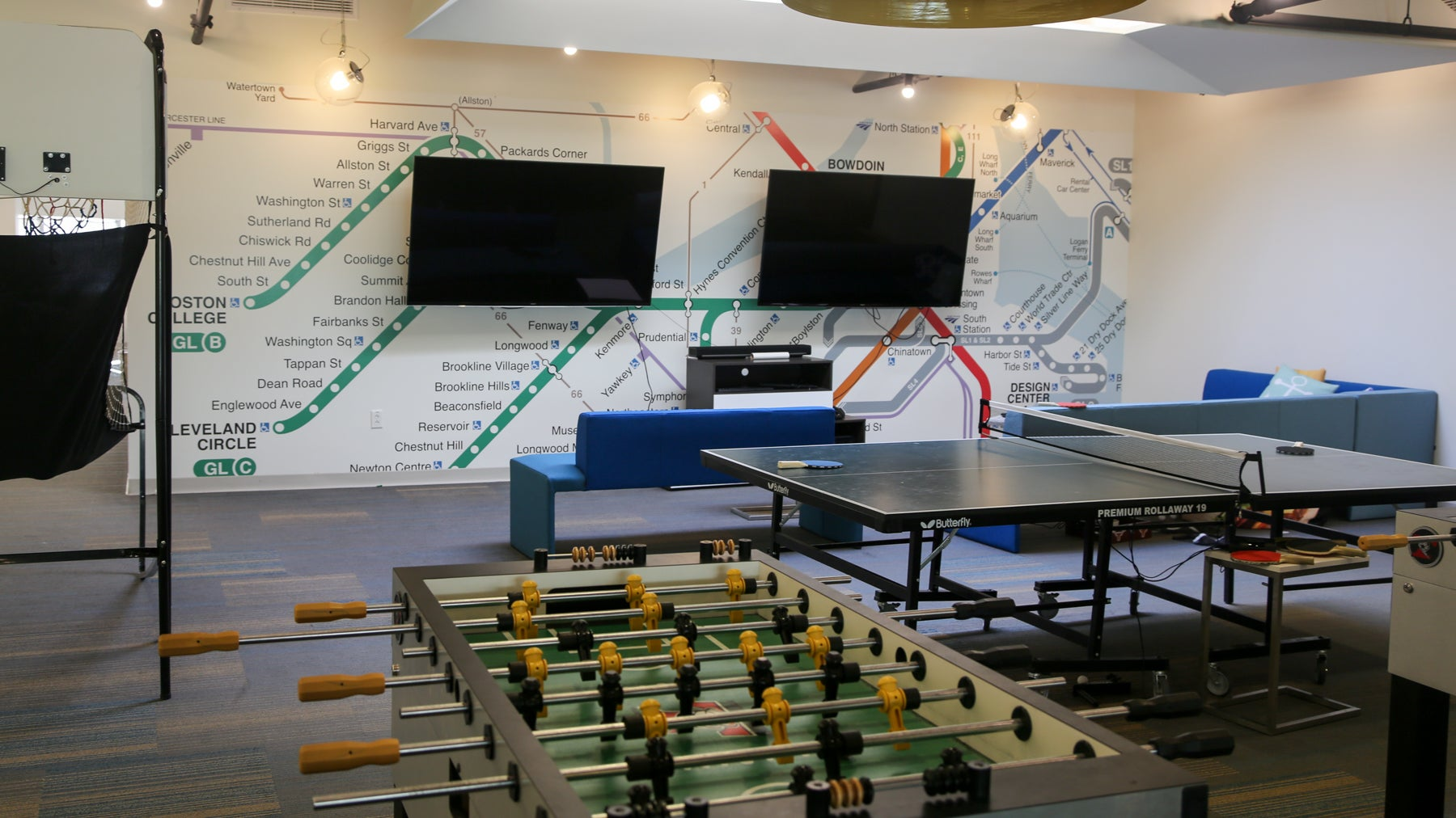 Wayfair has plenty of spaces for employees to unwind...and snack.