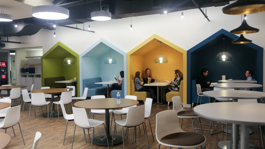 office cafeteria design commercial look inside wayfairs stylish and rapidly expanding boston offices bostoncom