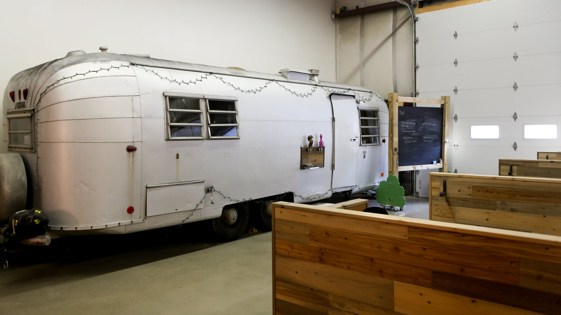 An Airstream that Kitter wants to turn into an office.