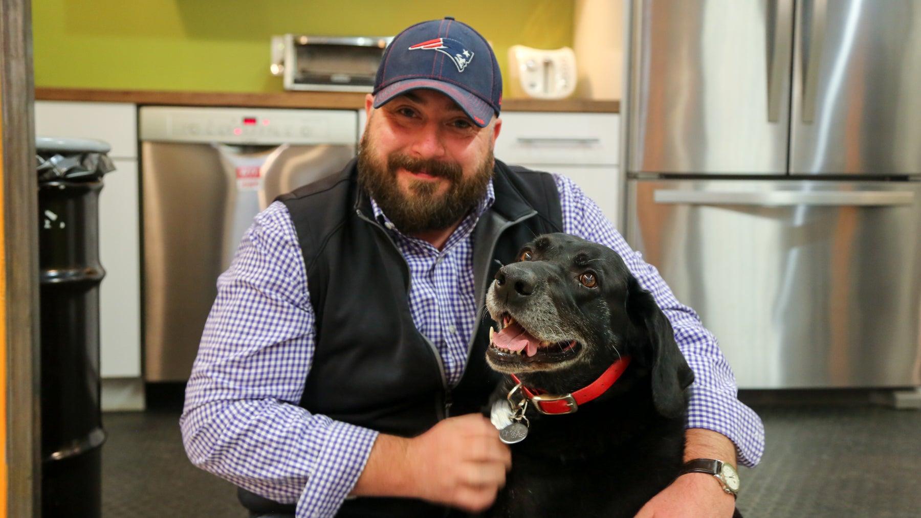 Mark McDevitt, account manager at Kurgo, and his dog Gus.