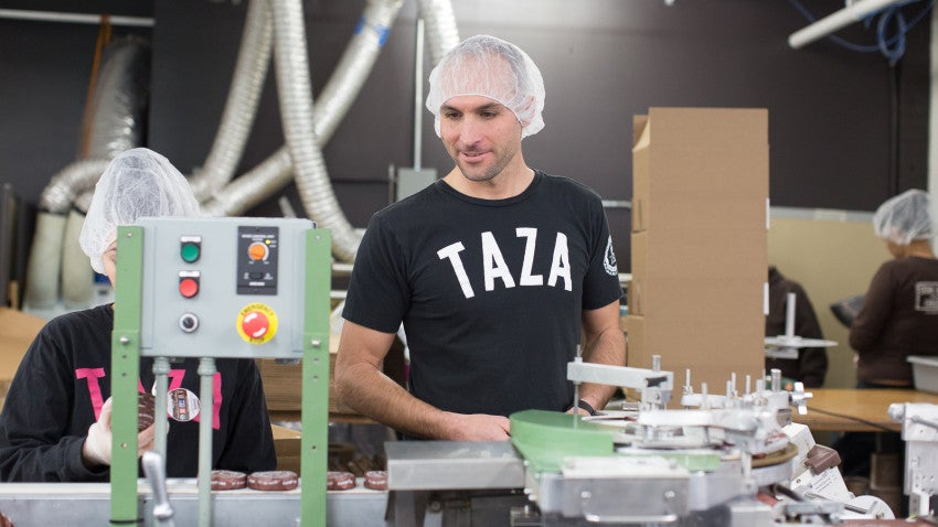 Whitmore said working with the Taza team is the best part of his job.