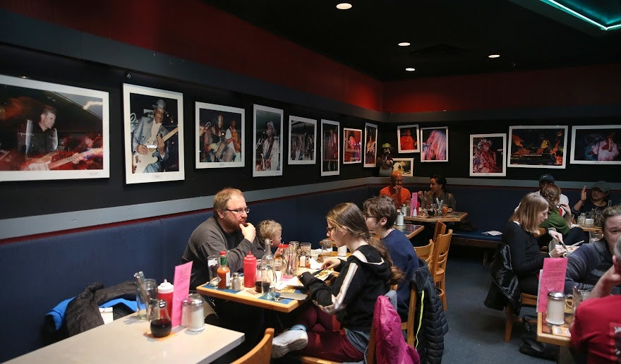 Somerville, MA--3/6/2016--Johnny D's, the Somerville nightclub that is closing down permanently, is photographed during the jazz brunch, on Sunday, March 6, 2016. Photo by Pat Greenhouse/Globe StaffTopic: 11FarewellJohnnyDsReporter: Sarah Rodman