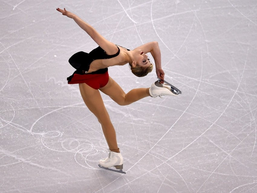 Gracie Gold of the United States skates during the Ladies Short Program at the ISU World Figure Skating Championships at TD Garden in Boston, Massachusetts, March 31, 2016. / AFP PHOTO / Timothy A. CLARYTIMOTHY A. CLARY/AFP/Getty Images