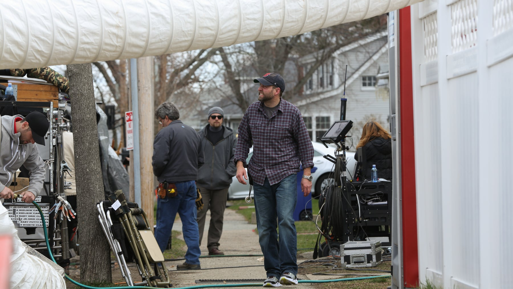 Patriot's Day filming in Quincy.