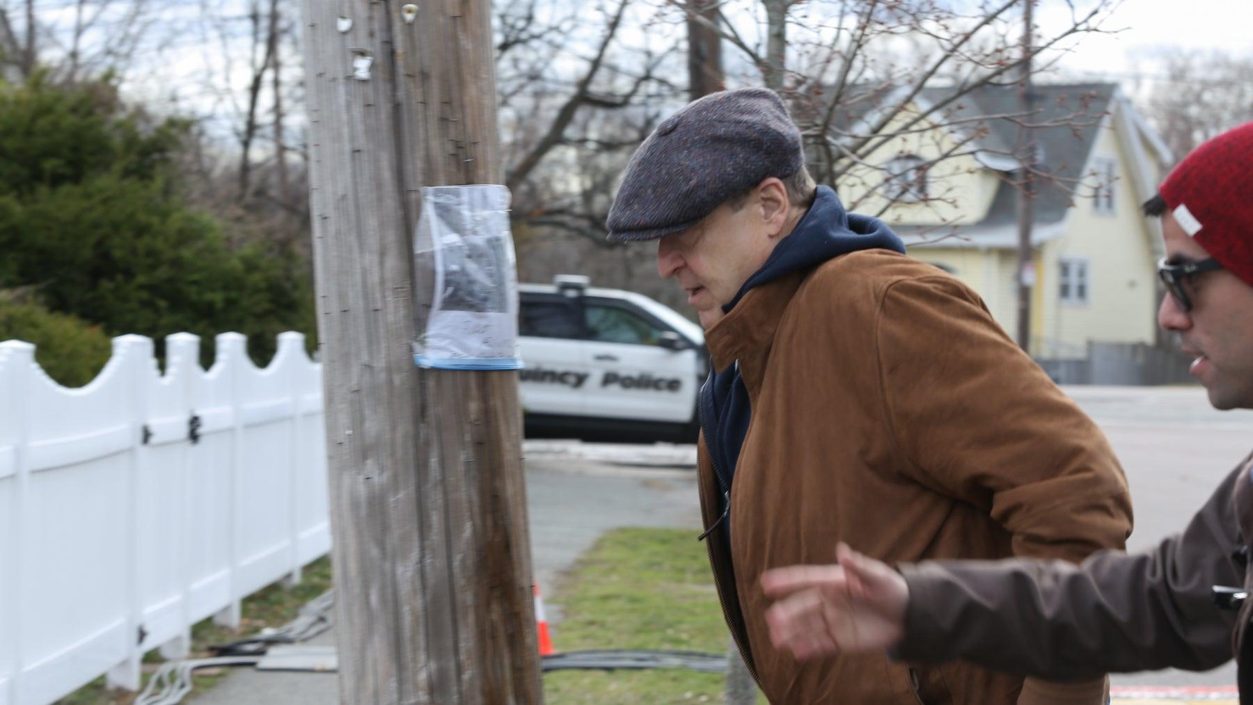 Actor John Goodman in Quincy on Tuesday.