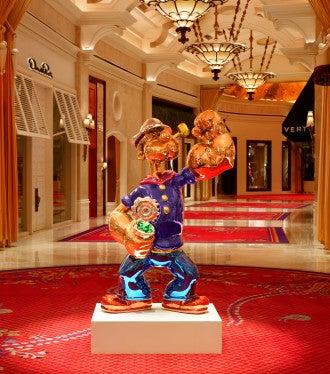 Popeye on display in Vegas.