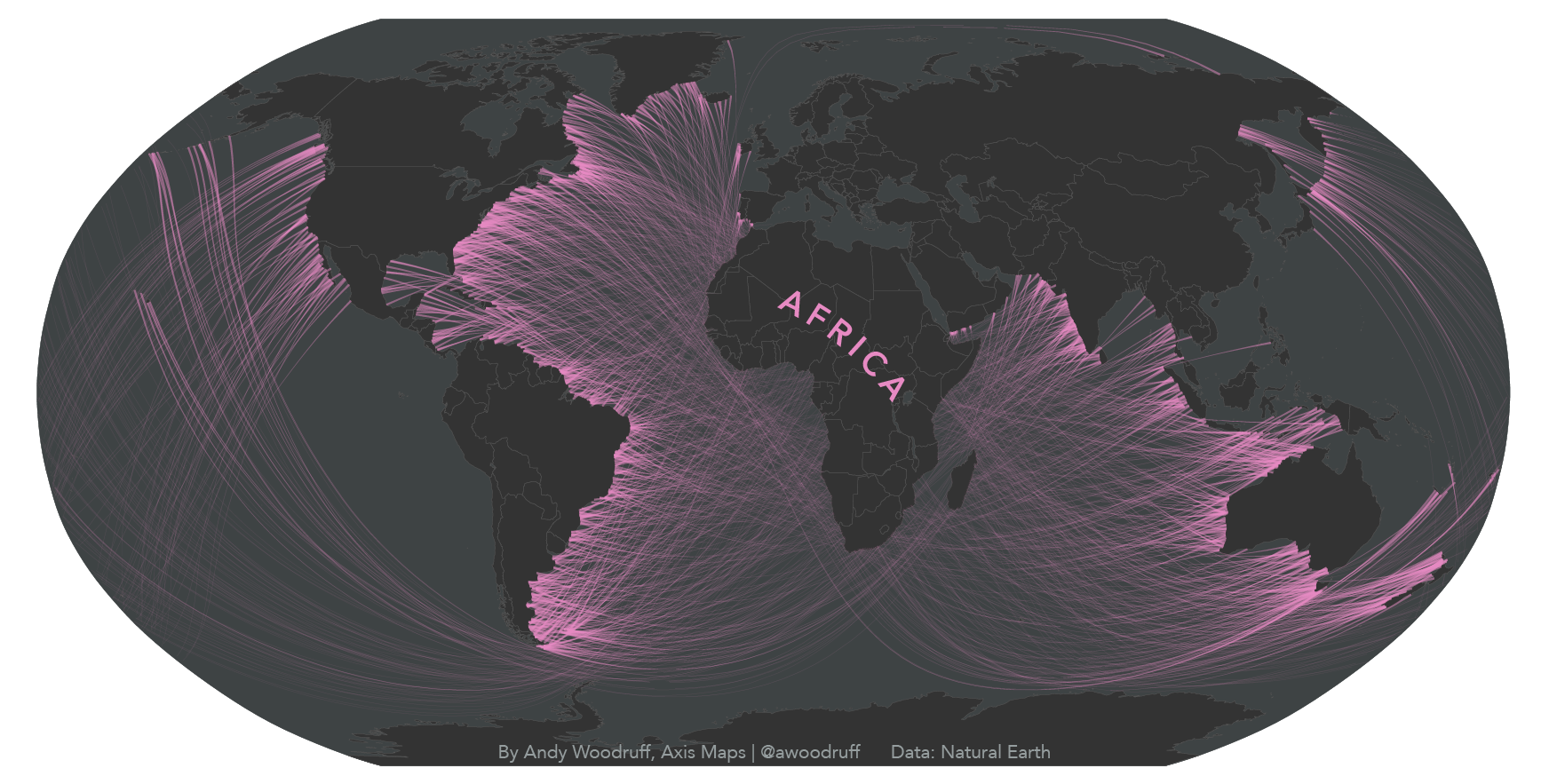 Sight lines leading to Africa.