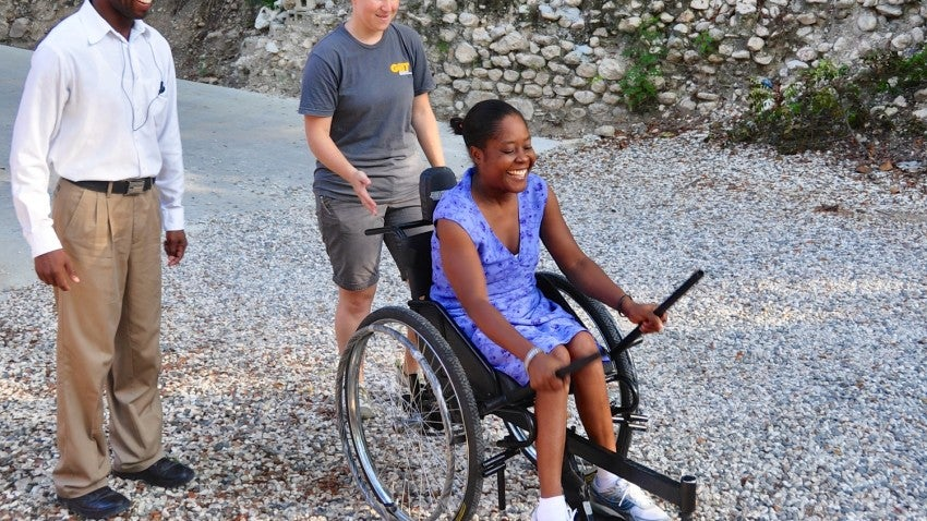 As students, GRIT worked with wheelchair riders and manufacturers in Kenya, Tanzania, Uganda, Guatemala, and India.