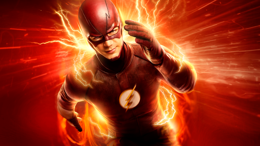 Actor Grant Gustin plays the titular superhero in the CW series The Flash.