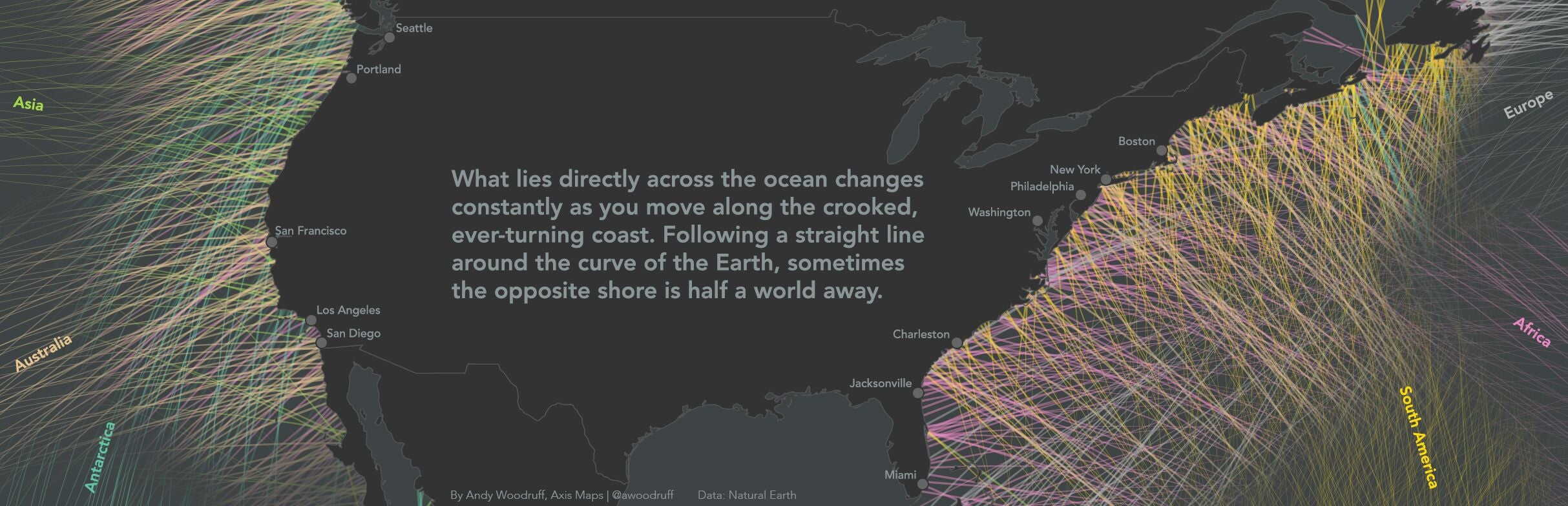 Views across ocean from United States via Andy Woodruff