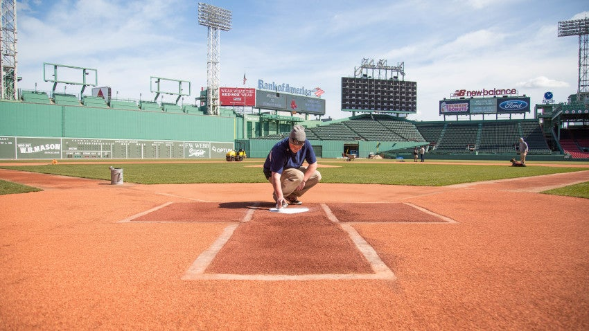 Hallowed ground: How Fenway Park gets ready for baseball ...