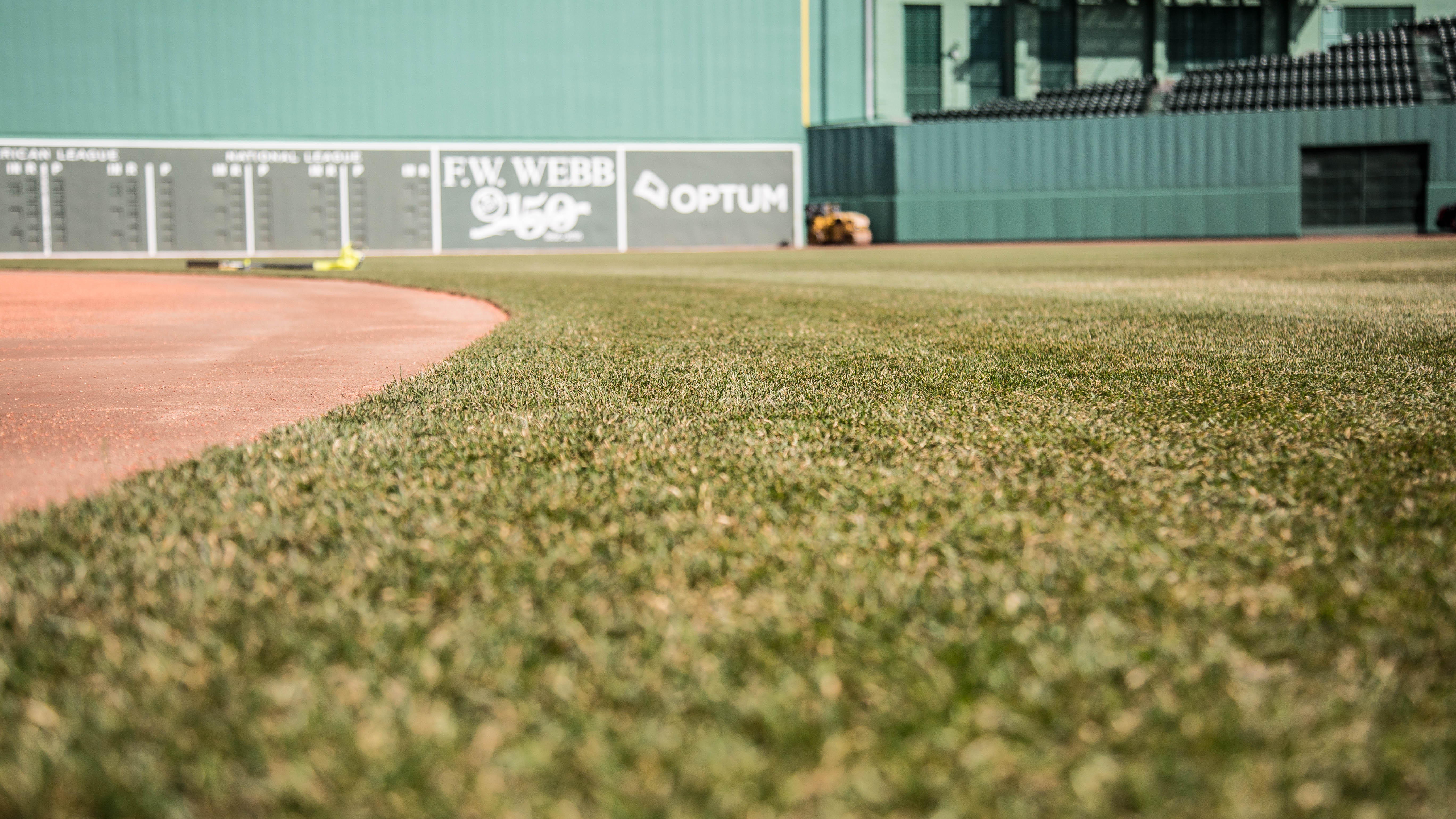 A brand-new Fenway field was beginning to green up on the last day of March.