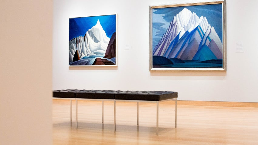 """One of Munsell's most recent performance art projects has involved working with choreographer Robert Binet, who created a seven-minute dance piece called """"Lake Maligne."""" The piece was inspired by works on view in the MFA's exhibition """"The Idea of North: The Paintings of Lawren Harris."""""""